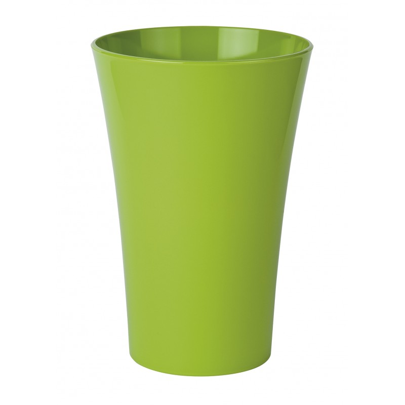 vase cache pot en plastique vert pomme. Black Bedroom Furniture Sets. Home Design Ideas