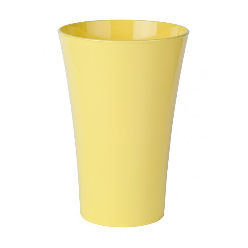 vase cache pot en plastique jaune. Black Bedroom Furniture Sets. Home Design Ideas