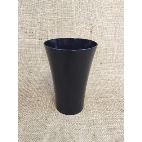 lot de 3 paquets de 5 vases cache pot en plastique noir. Black Bedroom Furniture Sets. Home Design Ideas