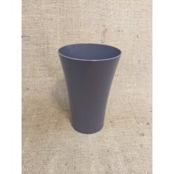 LOT de 12 Paquets de 5 Vases Cache Pot Gris Taupe