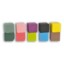 """Cube 10cm Mousse Phénolique """"EDEN"""" couleur (x3)"""