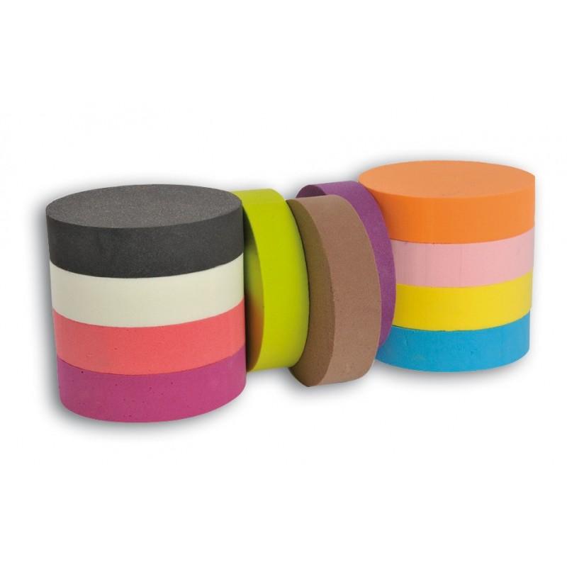 2 galettes de mousse polyur thane floride couleur. Black Bedroom Furniture Sets. Home Design Ideas