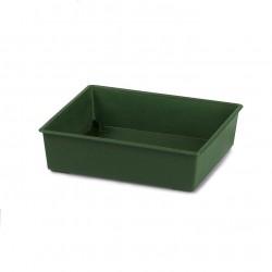 Barquette carrée verte (x12)