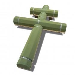 Croix  de Lorraine surélevée (x2)
