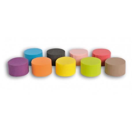 """Cylindre 8cm Mousse Phénolique """"EDEN"""" couleur (x6)"""