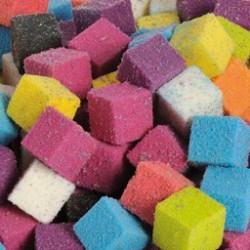 """Cube 2cm   MULTICOULEURS Mousse Polyuréthane """"FLORIDE"""" (x300)"""