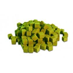 """Cube 2cm Mousse Polyuréthane """"FLORIDE""""  Vert anis (x300)"""